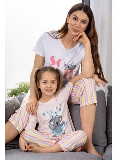 Katia & Bony Koala Baskılı Kadın Pijama Takımı - Beyaz Beyaz